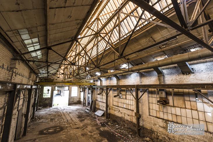 Hangar atelier aux forges de Clabecq