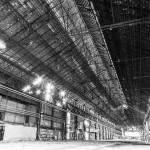 Immense hangar aux forges de Clabecq