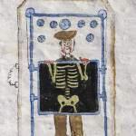 Dessin d'un soldat passant derrière un panneau à rayon X pour faire une radio