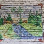 Peinture d'un paysage sur les murs du fort de la Chartreuse
