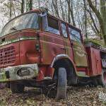 Camion de pompier FPT Berliet au Fort de Domont en HDR
