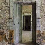 Porte d'un dortoir de 20 lits au Fort du Portalet