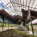 Ancien quai de gare voyageur à Canfranc en HDR