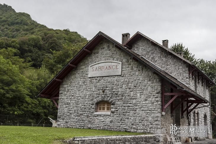 Ancienne gare de Sarrance sur la ligne Pau-Canfranc