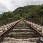 Pont abandonné de la ligne de chemin de fer Pau-Canfranc