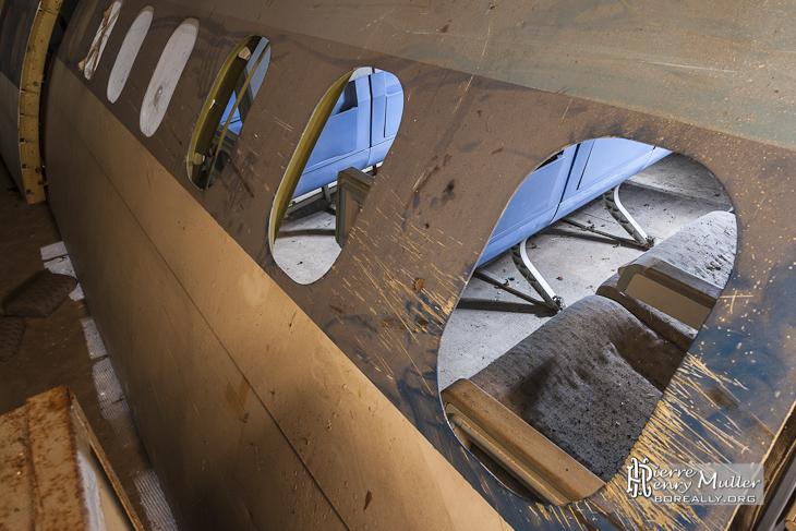 Carlingue d'avion pour l'entraînement à l'assaut du GIGN