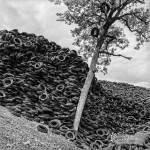 Epaisseur de la décharge de pneus