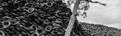 Décharge de pneus à Lachapelle Auzac