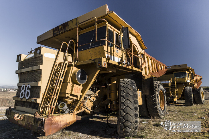 Camion benne de mine à charbon