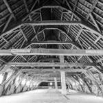 Charpente en bois du toit du monastère de Mechelen