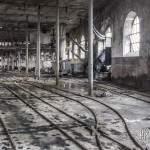 Aiguillages du hangar de triage et stockage des berlines de la papeterie