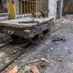 Chariot sur rails à la papeterie Darblay