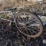Chariot à roues de vélo à la papeterie Darblay