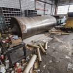 Cylindre de presse chauffée à la papeterie Darblay à Corbeille Essonnes
