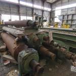 Différentes tailles de cylindres de presse à la papeterie Darblay