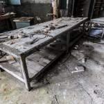 Etabli dans un atelier de la papeterie Darblay à Corbeil Essonnes