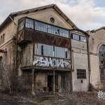 Extérieur des bâtiments de la papeterie Darbay à Corbeil Essonnes