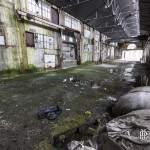 Grand hangar en friche de la papeterie Darblay