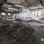 Hangar d'usine abandonnée à la papeterie Darblay