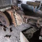 Vanne hydraulique rouillée à la papeterie Darblay