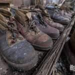 Vieilles chaussures de sécurité de la papeterie Darblay
