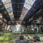 Vue d'ensemble d'un hangar de l'usine SAFEA