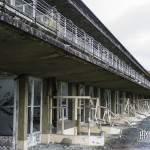 Vue d'ensemble des balcons des chambres du sanatorium du Vexin