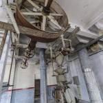 Axe de poulie machine et ruban de liaison avec le moteur à vapeur à la Brasserie Stella