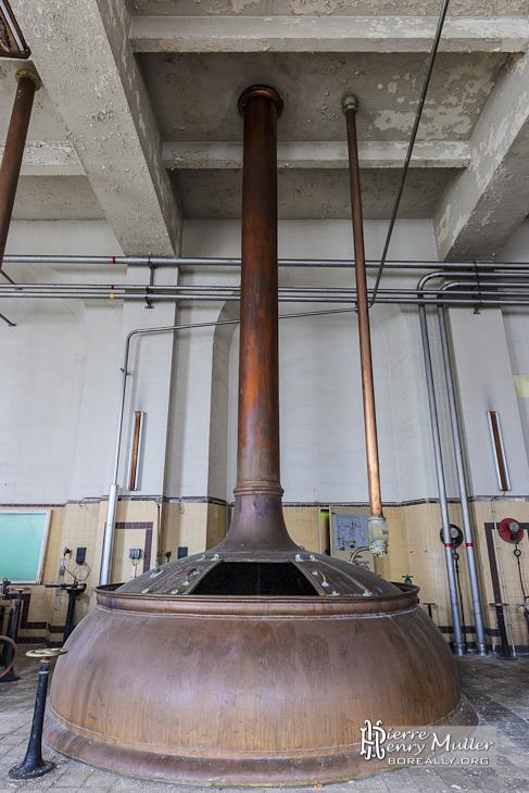 Cuve en cuivre martelé de brassage de bière par infusion multi-palier