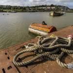 Bouée métallique dit tonne de port où est amarré le sous-marin