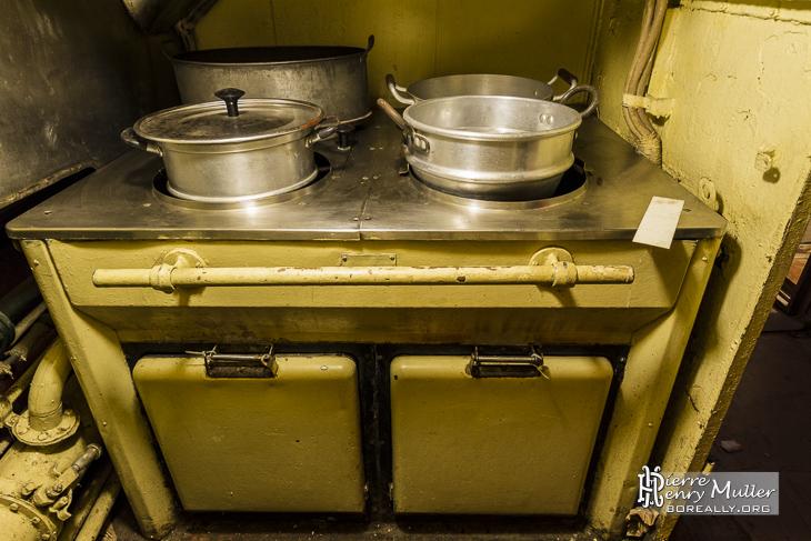 Plan de cuisson de la cuisine du sous-marin russe