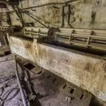 Bassins de pelanage des peaux à la tannerie