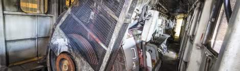 Compartiment du bloc moteur de la motrice 5150 de type 51....