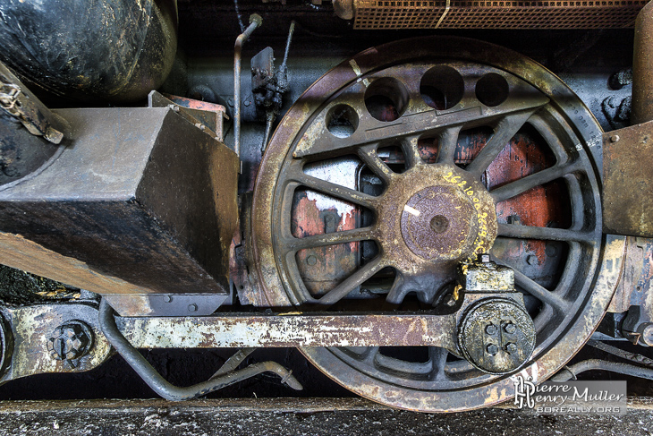 Essieu de bogie d'une locomotive SNCB série 73