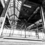 Hangar du dépôt de train abandonnés de Charleroi