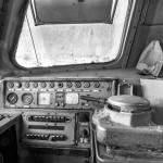 Poste de conduite d'une locomotive SNCB type 51