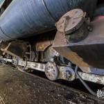 Sablière et réservoir diesel d'une locomotive série 73