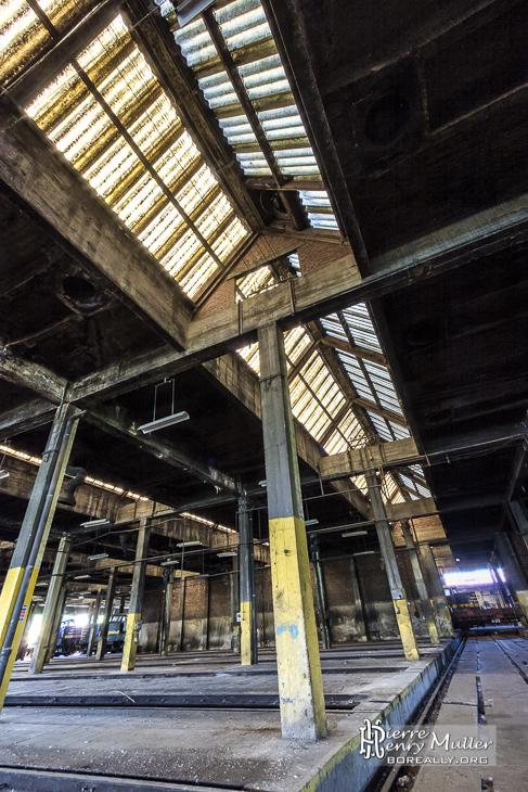Structure du dépôt de trains SNCB de Charleroi