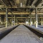 Symétrie du dépôt de trains de Charleroi