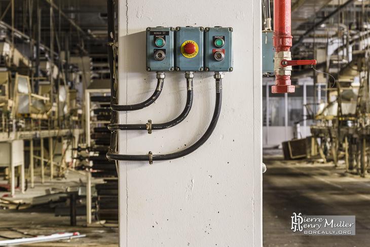 Interrupteurs sur les chaines de production