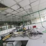 Salle des téléphones pendus dans les bureaux