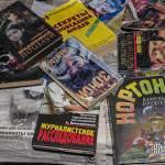 Livres en cyrillique du squat russe dans la friche Valentine