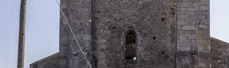 Façade de l'Eglise d'Oradour sur Glane...