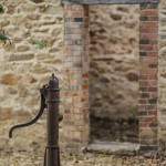 Fontaine à eau dans la cours de l'école