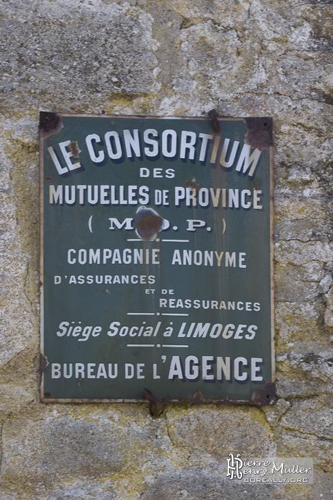 Plaque Consortium des mutuelles de province
