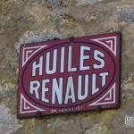 Plaque émaillée Huiles Renault