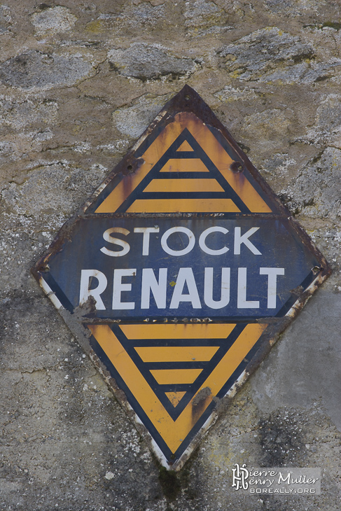 Plaque émaillée Stock Renault