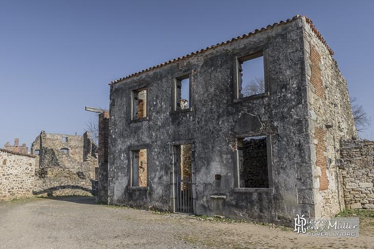 Structure d'une maison en ruine