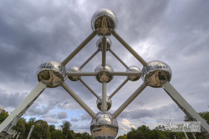 Photo HDR de l'Atomium de Bruxelles
