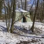 Tente Tartare au Désert de Retz sous la neige